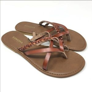 NWT Sonoma braided slip in flat sandals